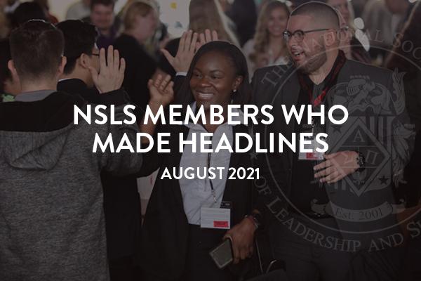 NSLS Members Who Made Headlines in August 2021