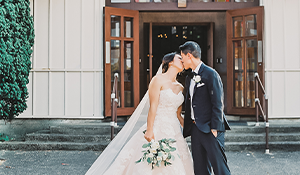 Celebrate your first kiss as a couple in the Chapel of Our Lady