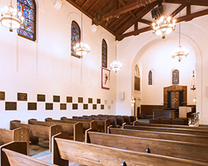 The Presidio Chapel is filled with history and stunning detail