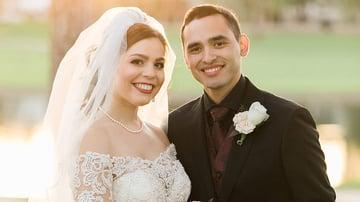 Sun-Kissed Bridal Portrait by Tara Nicole Photo | Ocotillo Oasis by Wedgewood Weddings