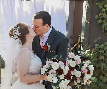 First Kiss at Stonetree Estate by Wedgewood Weddings
