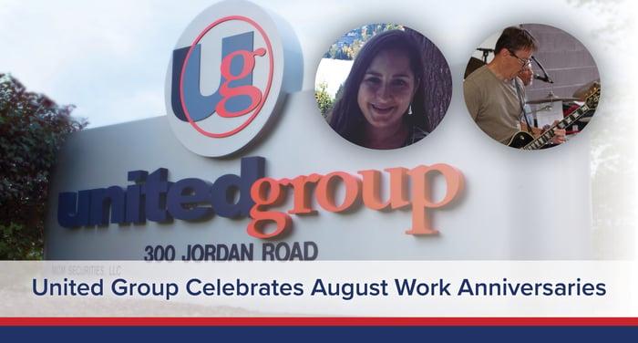 UGOC Spotlight: United Group Celebrates August Work Anniversaries