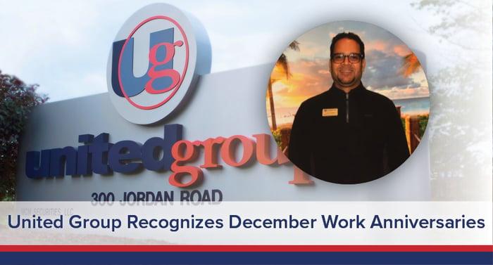 UGOC Spotlight: United Group Recognizes December Work Anniversaries