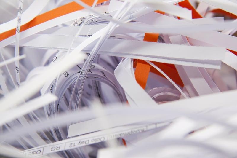 destrucción certificada de documentos