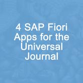 4 SAP Fiori Apps for Universal Journal
