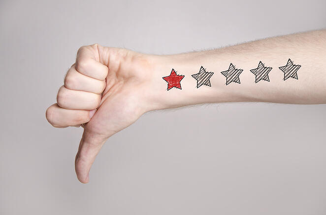 bad reviews on amazon thumbs down with 1 star