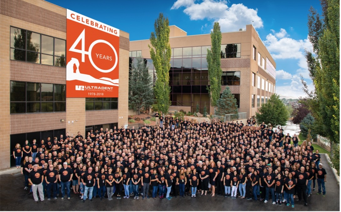 Ultradent staff pic for 40 year anniversary