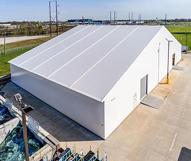 fabric automotive storage building
