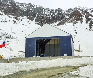 fabric mining building in Chile