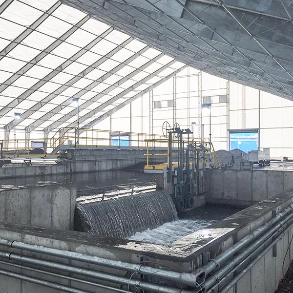 bottom ash dewatering facility