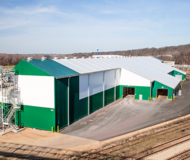 bulk fertilizer storage