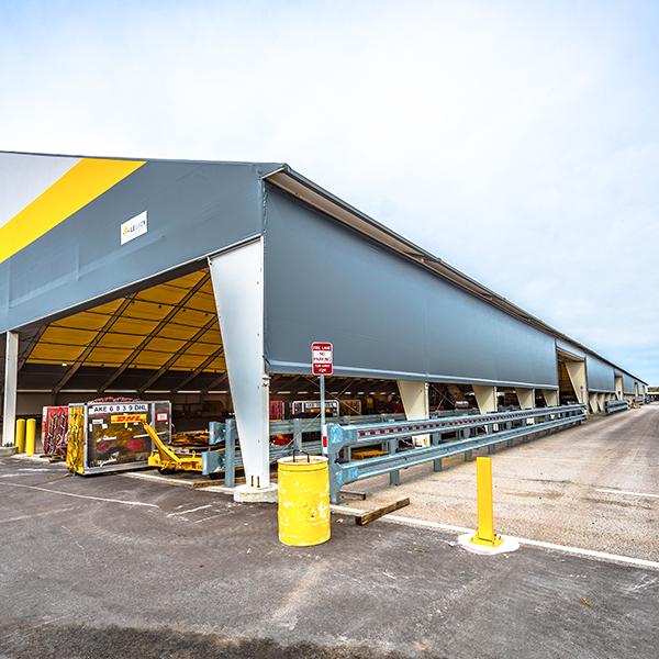 fabric pavilion for cargo