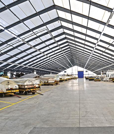 aviation storage building