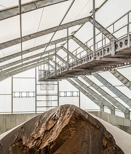 fabric building with conveyor