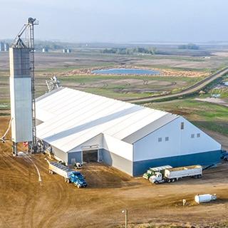 fabric bulk storage building