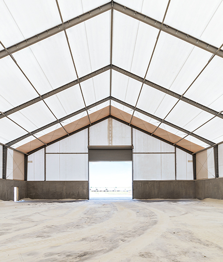 frac sand mining building