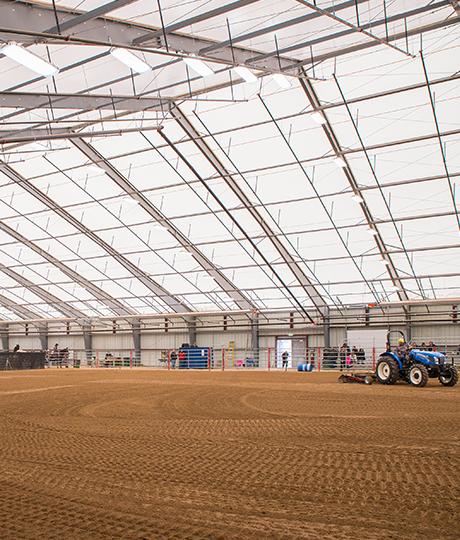 fabric equestrian arena