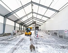 agricultural salt storage building