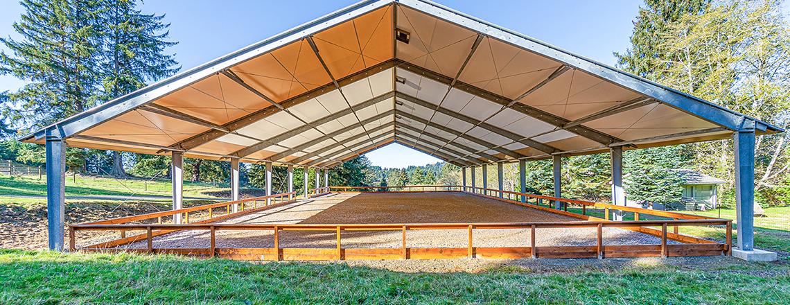 fabric horse pavilion
