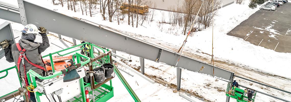 installers and steel beams