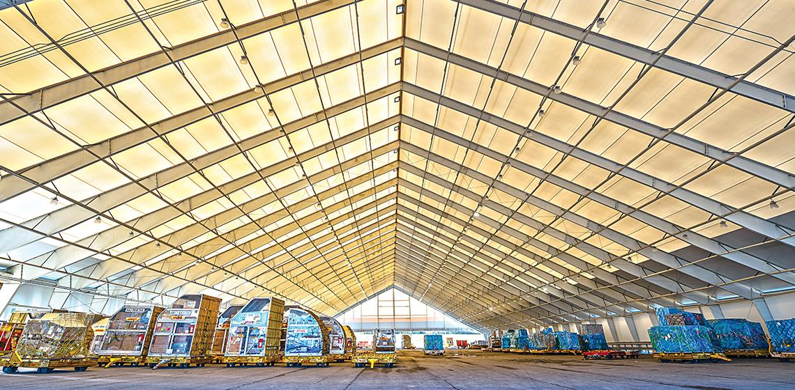 DHL Express Logistics Staging Pavilions