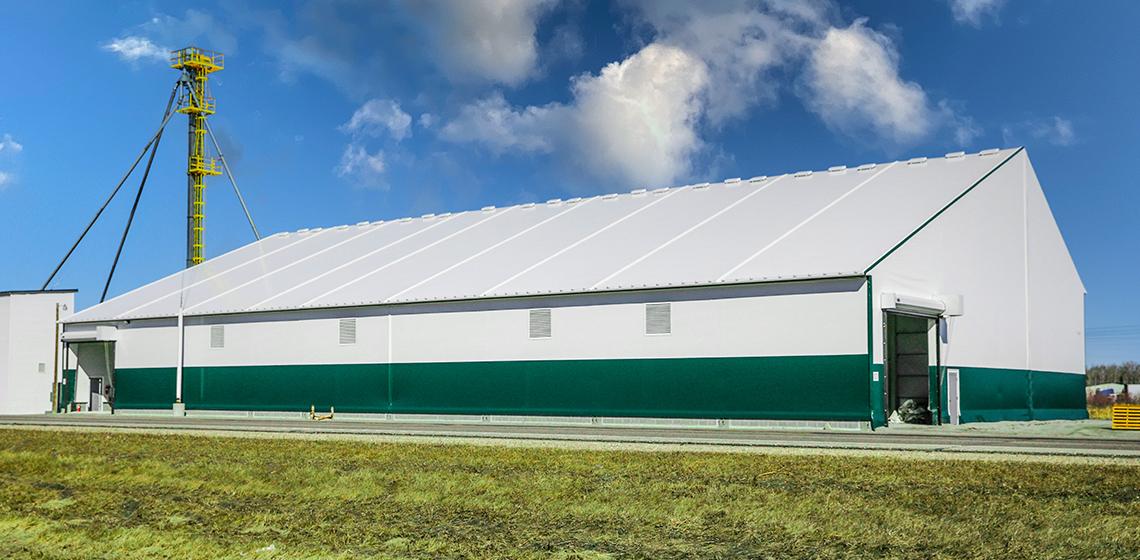 Northern Farmers Co-op Fertilizer Storage