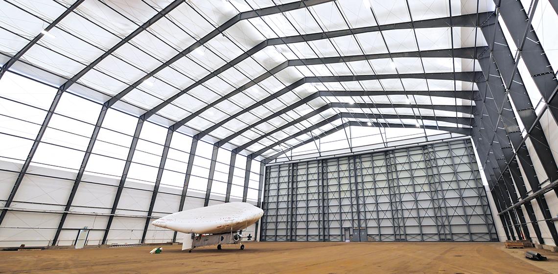 Solar Ship, Inc. Off-Grid Aircraft Assembly Hangar