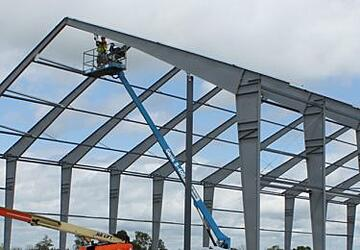 Fabric Structures with Rigid Steel Frame Construction