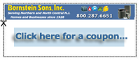 Download a coupon for a new water heater by Bornstein Sons NJ