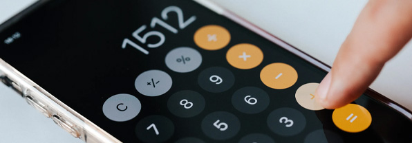 Using Calculator App on Smartphone
