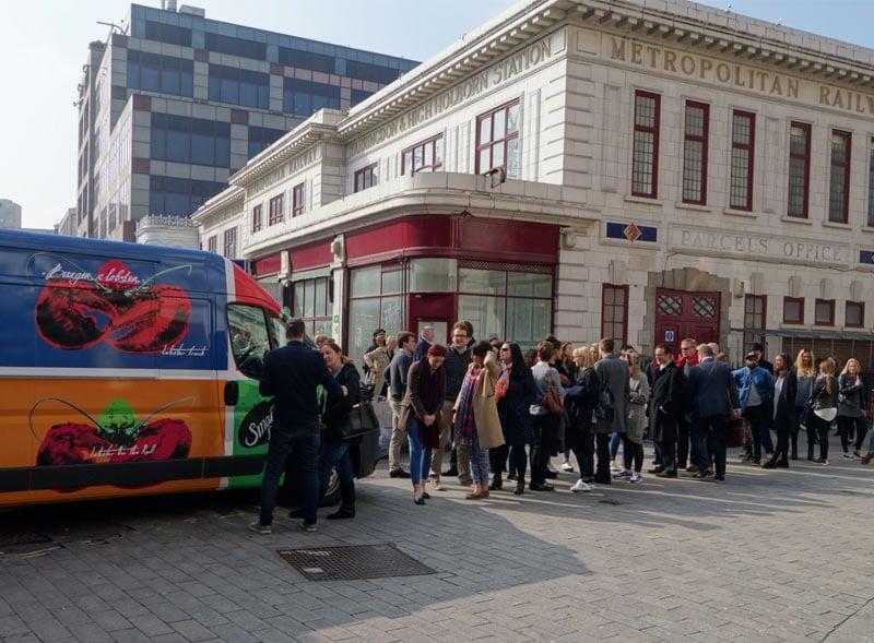 Burger & Lobster sampling activation using a Citroën Relay van