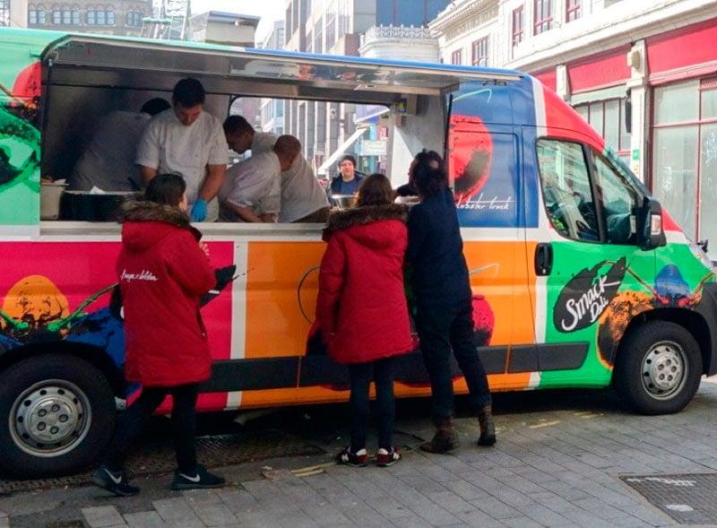 Burger and Lobster street food sampling van