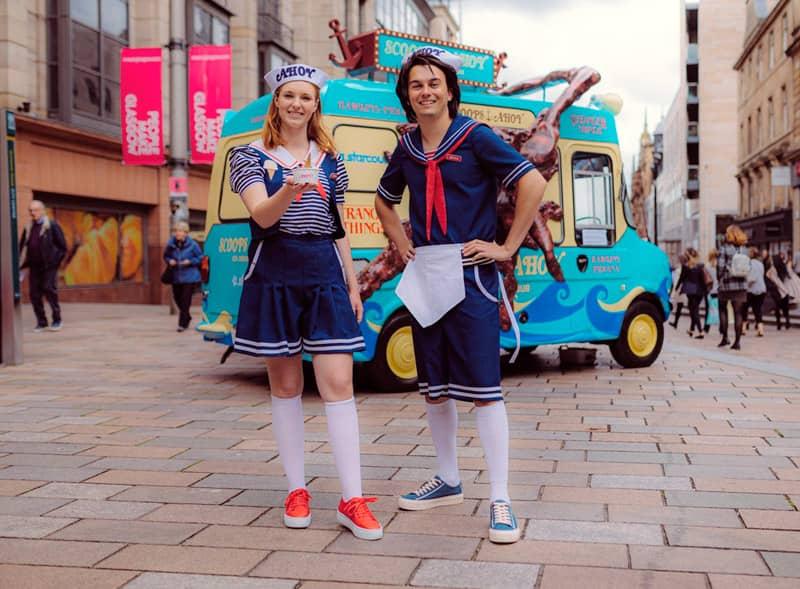 Stranger Things Actors Ice Cream Van Campaign