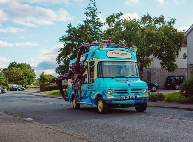 Stranger Things Van On The Road