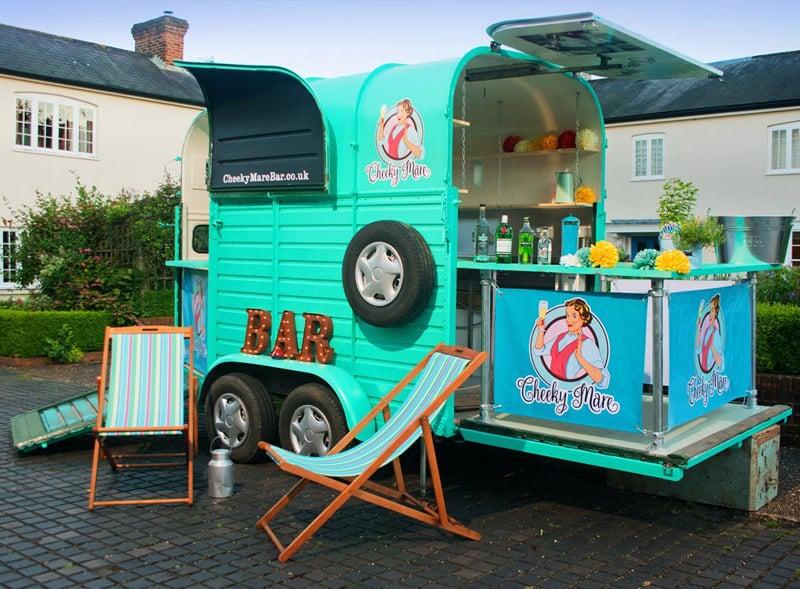 Horsebox trailer bars for hire - Cheeky Mare Gin Bar