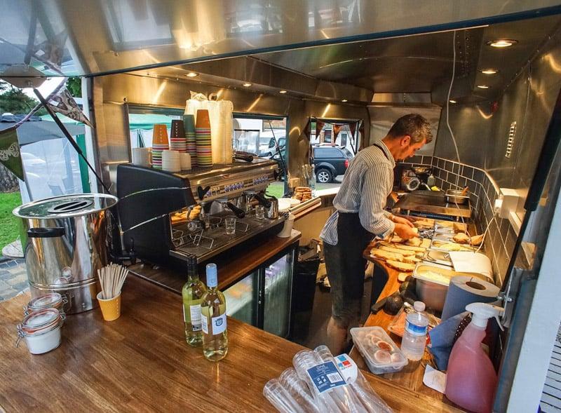 Horsebox trailer hire - interior view for food sampling and preparation