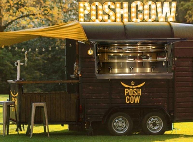 Rice horsebox trailer for hire - Posh Cow food sampling