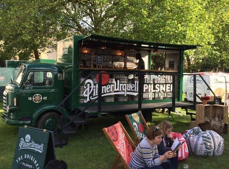 Pilsner Urquell bar truck vehicle conversion