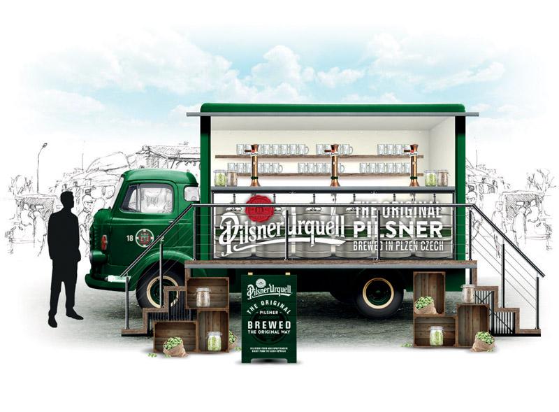Pilsner Urquell Truck Design