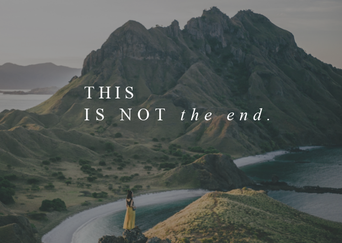 This is Not the End   Dec. Monthly Blog