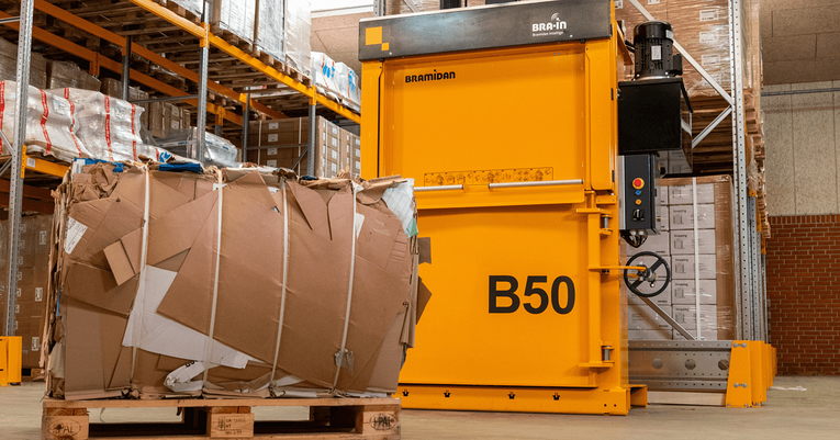 using a cardboard baler to generate revenue for a business