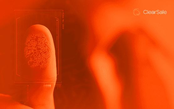 Dedo sendo pressionado contra a tela em referência à identidade digital