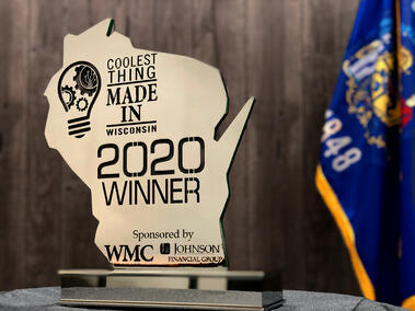 Coolest things made in Wisconsin 2020 winner award.