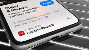 Bottle Rocket Launch Apple App Clip For Caesars Ent.