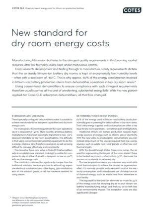 Cotes CLD til lithium-ion batteriproduktion