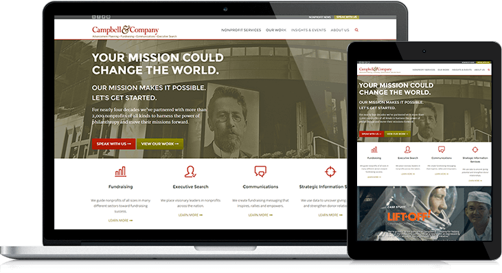 Campbell and Company's site redesign offers a better user experience and the ability to collect more leads