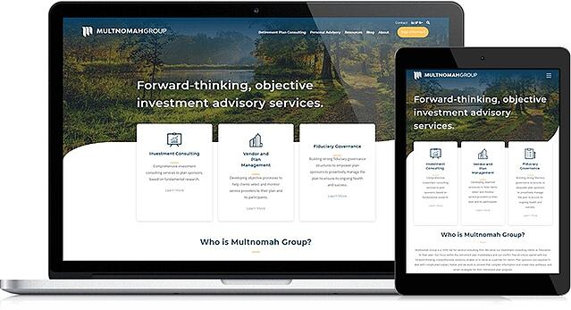 Multnomah Group's Website Design Offers the Ability to Easily Update Content