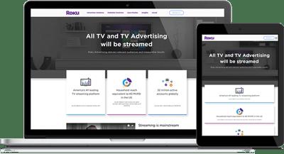 Great Website Design Helps Roku Clients Understand Their Advertising Service Offerings