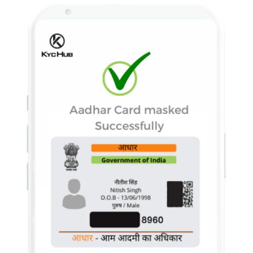 Masking of Aadhaar card
