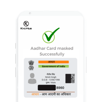 Aadhar card In Mobile (Masked)